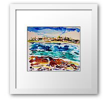 Bondi in Abstract  Framed Print