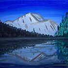 mountian reflection painting by Brent Fennell