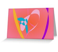 Coral Pink Simple Abstract Art Greeting Card