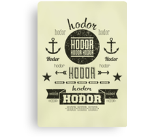 Hipster Hodor  Canvas Print