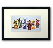 Lego FNAF Animatronics Framed Print