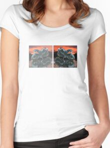 Motorcycle sunset Women's Fitted Scoop T-Shirt