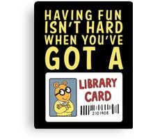 Arthur Library Card Canvas Print
