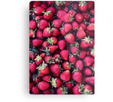 Summer Strawberries Metal Print