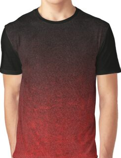 Red & Black Glitter Gradient Graphic T-Shirt