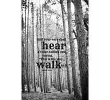 Isaiah 30 Walk Photographic Print