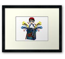 Tommy gets down and dirty. Framed Print