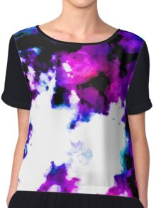 blue and purple watercolor Chiffon Top