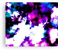 blue and purple watercolor Canvas Print