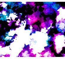 blue and purple watercolor Photographic Print