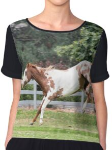 Jumping pony Chiffon Top