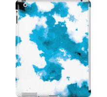 blue and black watercolor iPad Case/Skin