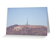 Hollwood Sign  Greeting Card