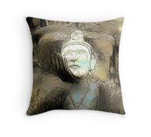 Buddha Asks Why 3 Throw Pillow