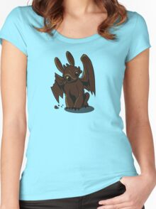 Chocolate Dragon (Wing chomped) Women's Fitted Scoop T-Shirt