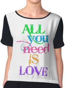 All You Need Is Love. Inspired by The Beatles. Chiffon Top