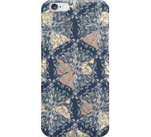 Organic Hexagon Pattern in Soft Navy & Cream  iPhone Case/Skin