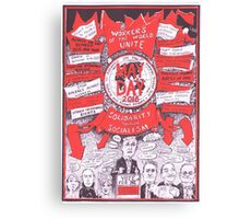 2016 May Day Poster...another election year Canvas Print