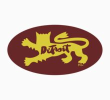 Detroit City Rouge Lion : Sticker Only by finnllow