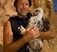 Banded my 2,000th Golden Eagle Nestling by Kent Keller