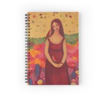 Woman with Birds Spiral Notebook