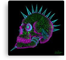 evil punk skull of fuck off - ness Canvas Print