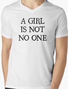 A Girl Is Not No One Mens V-Neck T-Shirt