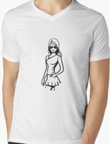 girl style cool young schön sonnenbrille  Mens V-Neck T-Shirt