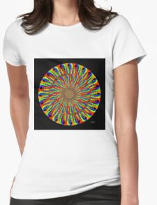 Circle of Trumpets Fractal Womens Fitted T-Shirt