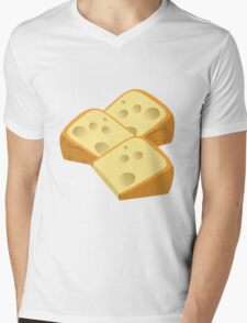 Cheese slices are yummy Mens V-Neck T-Shirt