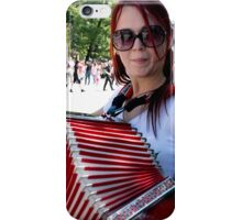 Red Accordion iPhone Case/Skin