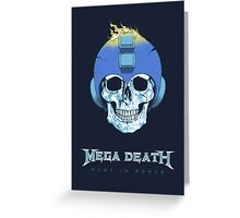 Mega Death Greeting Card