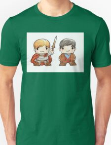 Merlin and Arthur Biddys.  Unisex T-Shirt