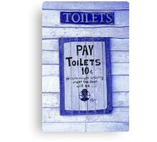 Toilet Warning Canvas Print