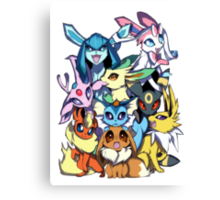 Eevee and Friends Canvas Print