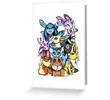 Eevee and Friends Greeting Card