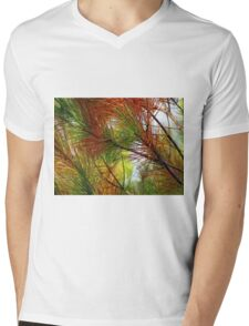 pine brush Mens V-Neck T-Shirt