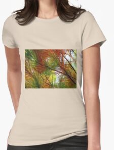 pine brush Womens Fitted T-Shirt