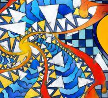 Theus De Lamor V2 - digital artwork Sticker