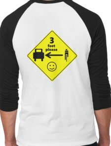 Safety First for Cyclists (US) Men's Baseball ¾ T-Shirt