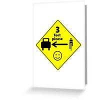 Safety First for Cyclists (US) Greeting Card