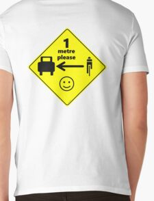 Safety First for Cyclists (Europe) Mens V-Neck T-Shirt