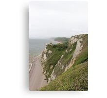 Beer Devon coastline Canvas Print