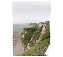 Beer Devon coastline Poster