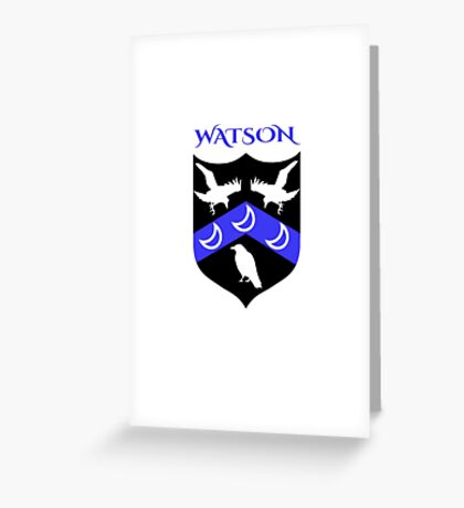 WATSON COAT OF ARMS Greeting Card
