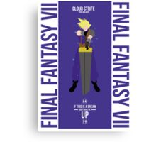 Cloud Strife FFVII  Canvas Print