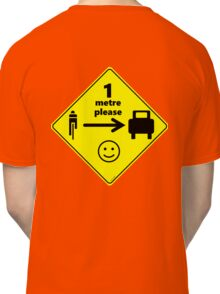 Safety First for Cyclists (AU, UK) Classic T-Shirt