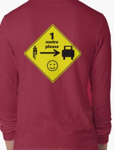 Safety First for Cyclists (AU, UK) Long Sleeve T-Shirt