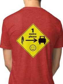 Safety First for Cyclists (AU, UK) Tri-blend T-Shirt