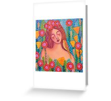 Woman in Love Greeting Card
